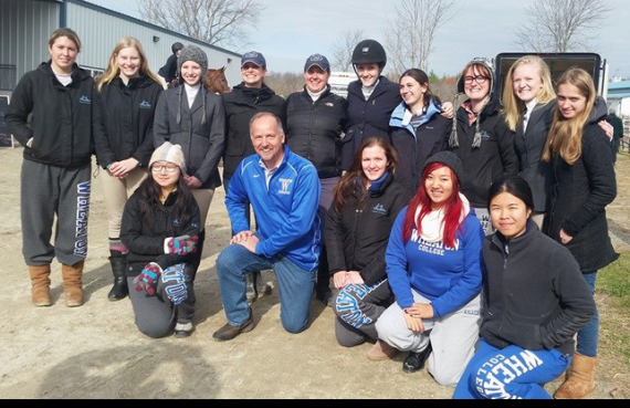 President Hanno with the Wheaton Equestrian Team last year.